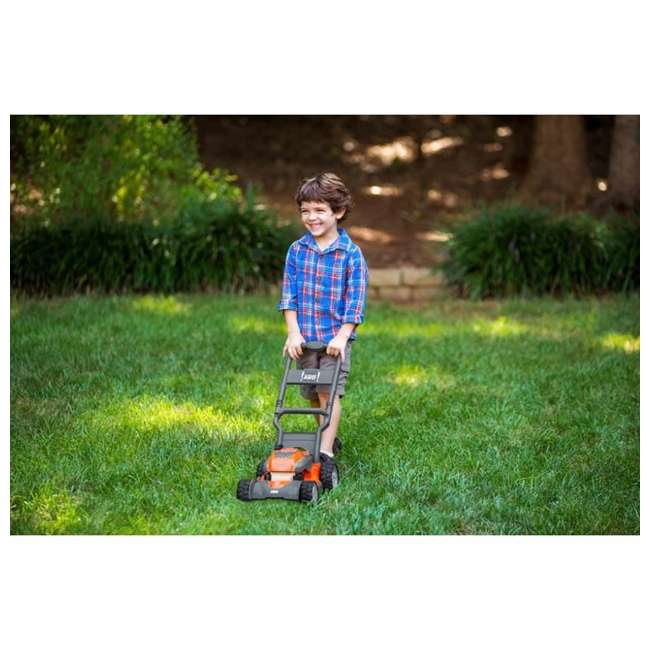 HV-TOY-589289601 + HV-TOY-585729103 Husqvarna Battery-Powered Toy Lawn Mower and Battery Operated Toy Hedge Trimmer 4