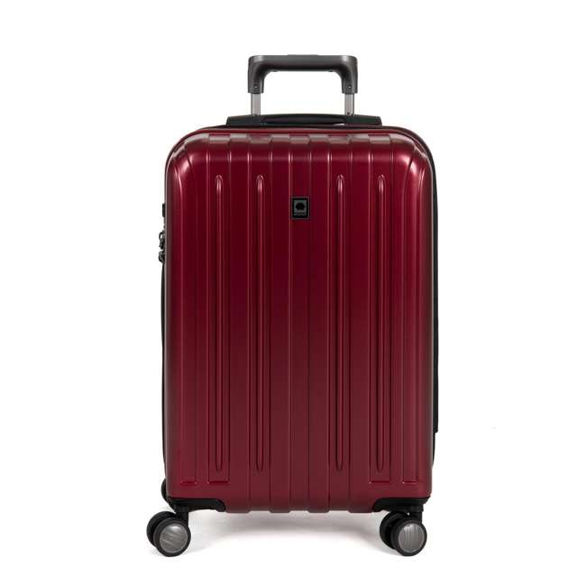 00207180004 DELSEY Paris Titanium Expandable Carry On Spinner Rolling Luggage Suitcase, Red