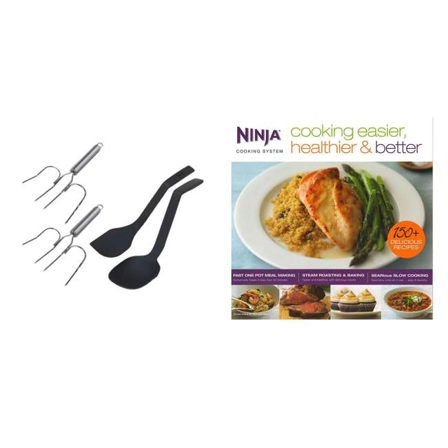 XC701K3 + CB700 Ninja Roaster Utensil Kit + Cooking Easier, Healthier, & Better 150 Recipe Book