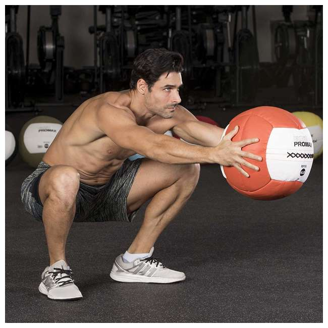 RPX14 Champion Sports Soft Shell Rhino Promax Slam Light Blue Medicine Ball, 14 Pounds 2