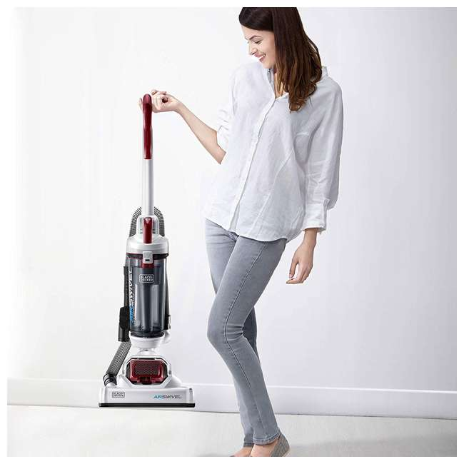 BDASP103 Black and Decker AirSwivel Upright Bagless Pet & Home Vacuum Cleaner, White 2