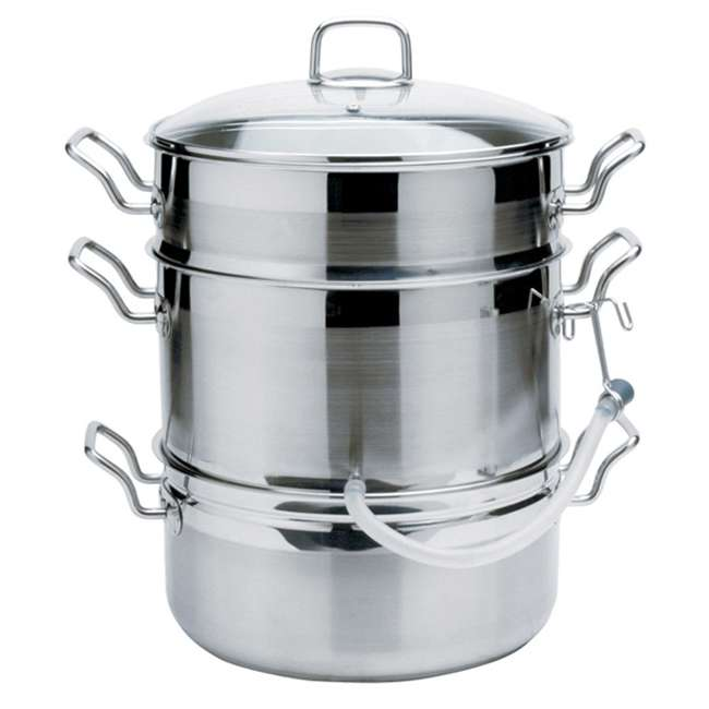 624 Norpro 624 Stainless Steel 11 Quart Steamer Pot and 4 Quart Juicer Container