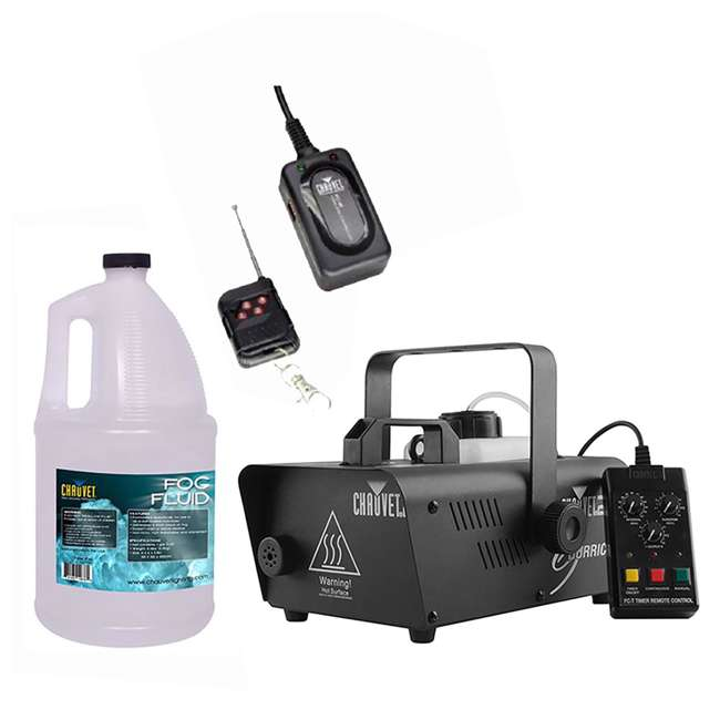 H1200 + FC-W + FJU Chauvet H1200 Hurricane Fog Machine + Wireless Remote + Fog Fluid