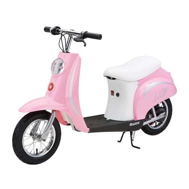 15130610 + 97783 Razor Pocket Mod Bella Electric Scooter & Youth Helmet (Pink) 2