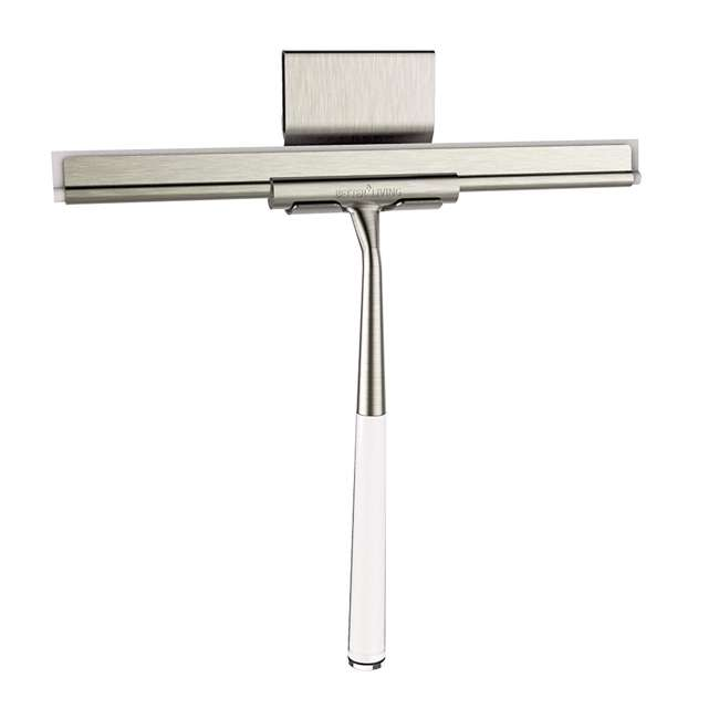18099 Better Living Linea Rust Proof Stainless Steel Shower Squeegee with Suction Hook 2