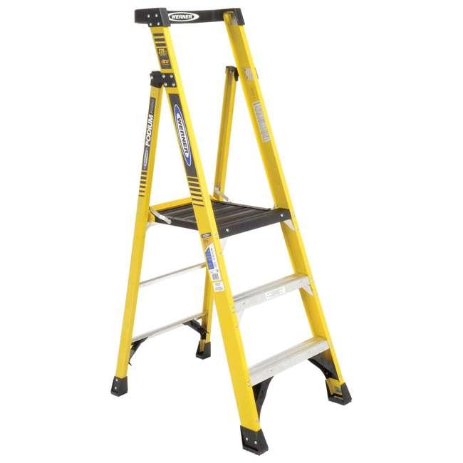 W-PD7303 Werner 3 ft Fiberglass Podium Ladder - OMA