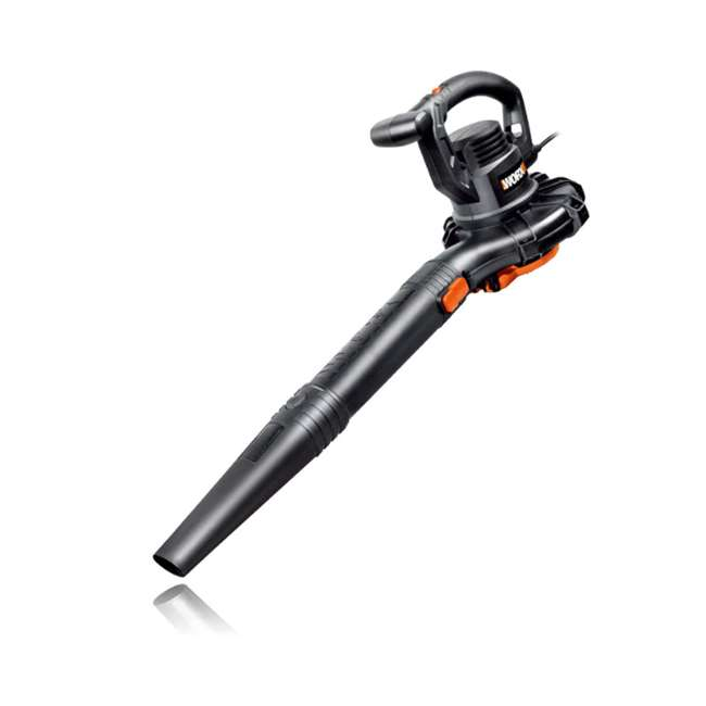 WG507 Worx WG507 Electric 2 Speed 12 Amp Home Handheld Leaf Blower Mulcher and Vacuum