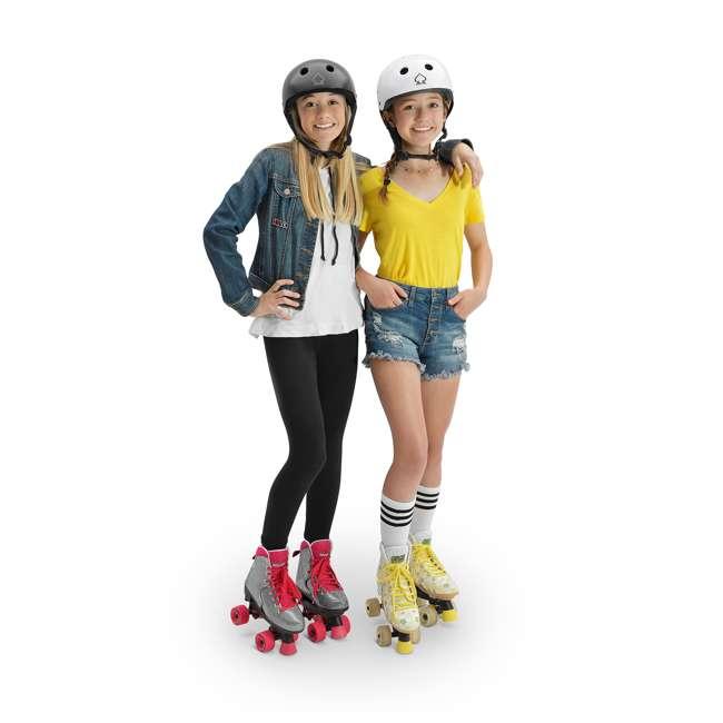 168222 Circle Society Bling Sizzling Pink Kids Skates, Sizes 3 to 7 5