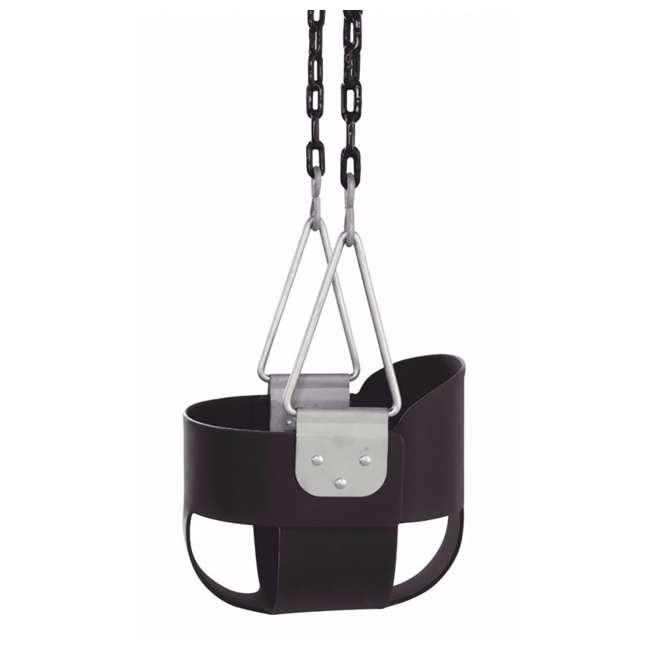 SWBSC-BK-U-A Swingan High Back Full Bucket Child Swing Seat with Vinyl Coated Chain(Open Box) 3