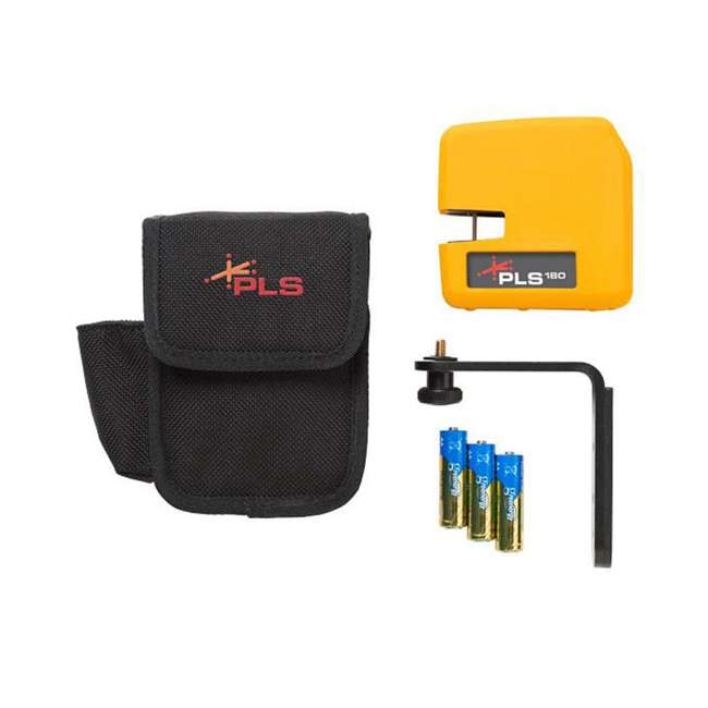 PLS-60521N Pacific Laser Systems PLS-60521N Red Self-Leveling Cross Line Laser Level Tool 1