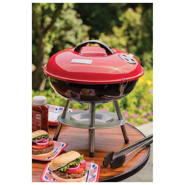 CCG-190RB Cuisinart CCG-190 Portable 14 Inch Charcoal Grill, Red (Certified Refurbished) 1