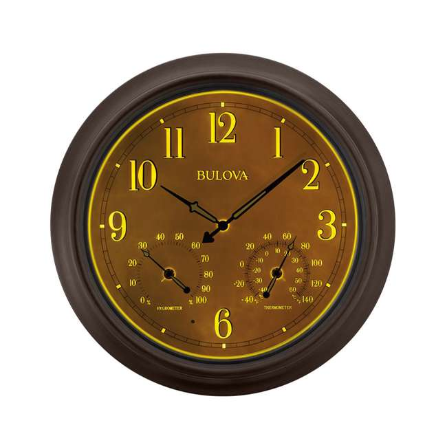 C4813 Bulova Clocks C4813 Weather Master Outdoor Thermometer and Hygrometer Wall Clock 1