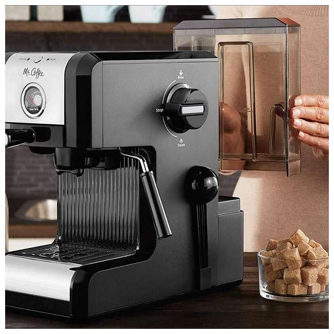 BVMCECMPT1000 Mr. Coffee Easy Maker Authentic Espresso Machine w/ Auto Tamp Technology, Black 3
