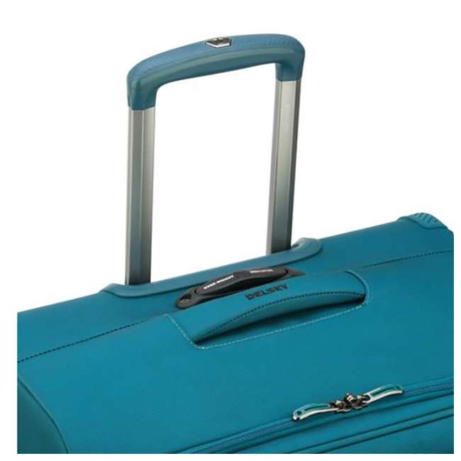 """40229182032 DELSEY Paris 25"""" Expandable Spinner Upright Hyperglide Luggage Suitcase, Teal 4"""