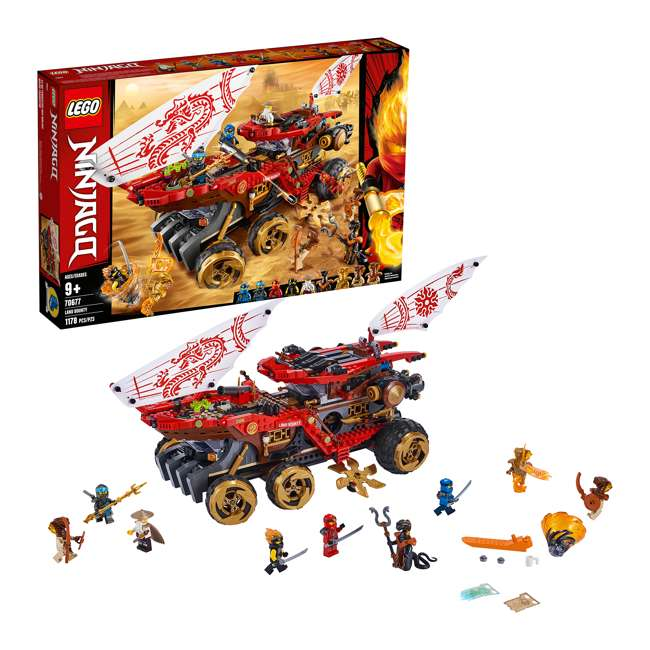6250934 LEGO NINJAGO 70677 Land Bounty 1178 Piece Block Building Set w/ 9 Minifigures 3