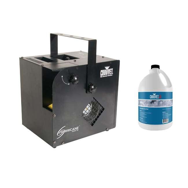 HURRICANE-HAZE2D + 2 x HDF Chauvet DJ Hurricane Haze 2D Smoke/Fog Machine & High Density Fog Juice (2 Pack)