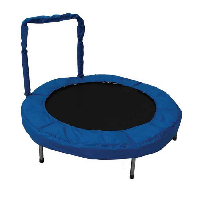 JumpKing 48-Inch Bouncer Trampoline With Safety Pad, Blue