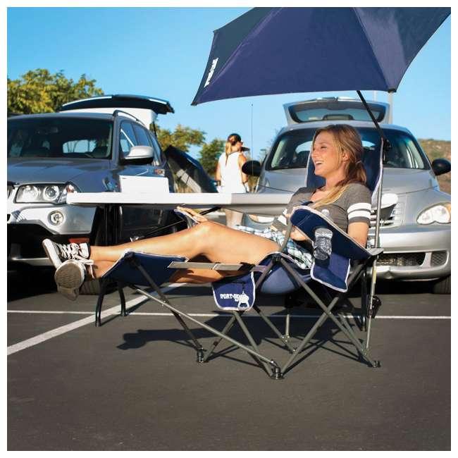 BRE03-615-01 Sport-Brella Umbrella Recliner Folding Chair, Blue 3