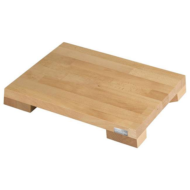 45 Artelegno 45 Siena Cutting Board w/ Plate Inserts, Solid Beech Wood Oiled Finish