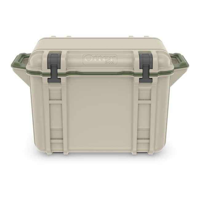 77-54463 Otterbox Venture Heavy Duty Outdoor Camping Fishing Cooler 45-Quarts, Tan/Green 3