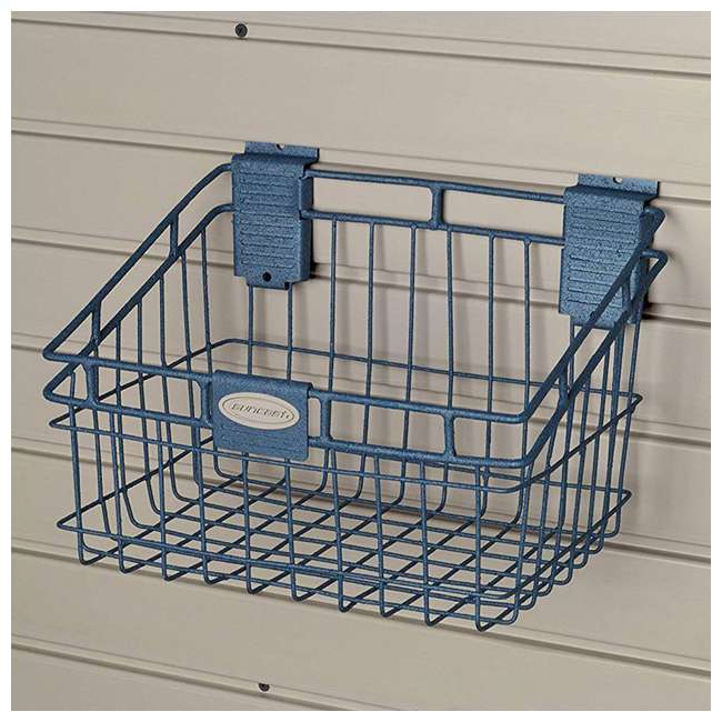 MB0812 Storage Trends 8 x 12 Inch Mounted Wire Basket, Blue 2