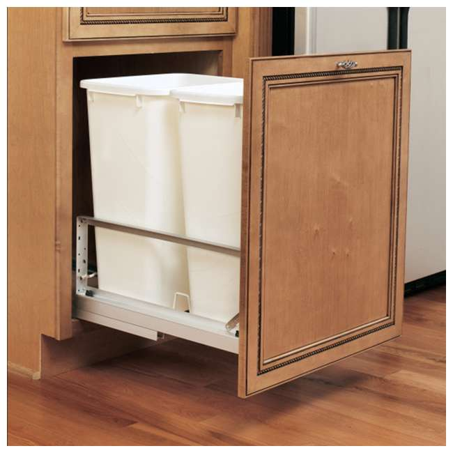 5349-2150DM-2 Rev-A-Shelf 5349-2150DM-2 Double 50 Quarts Undermount Pull-out Waste Container 3