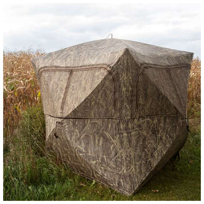 BARR-GR351BB Barronett Grounder 350 Bloodtrail Blades Lightweight Pop Up Ground Hunting Blind 2