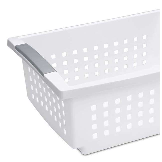 10 x 16628010 Sterilite Medium Home Stackable Storage & Organizer Basket, White (10 Pack) 2