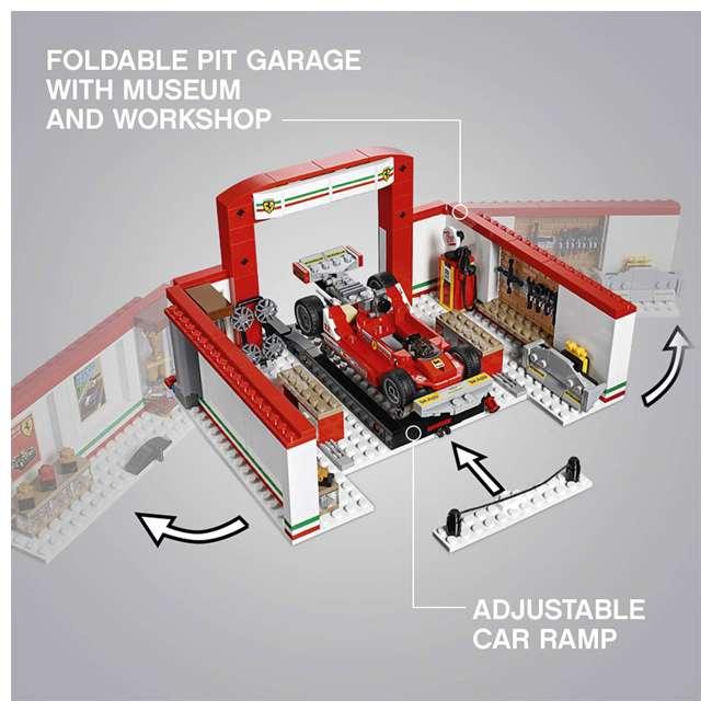 6212629 LEGO Speed Champions 841 Piece Ferrari Ultimate Garage Building Kit for Kids 3
