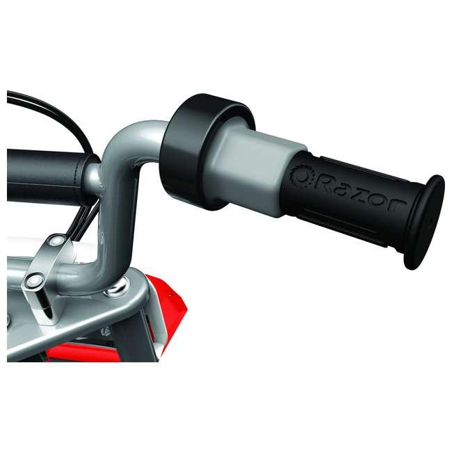 15128095 + 97775 + 96785 Razor MX350 Dirt Rocket Bike with Helmet, Elbow & Knee Pads 5