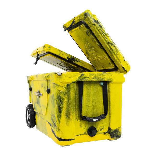 HC50-17YB WYLD HC50-17OB 50 Qt. Dual Compartment Insulated Cooler w/ Wheels, Yellow/Black 1