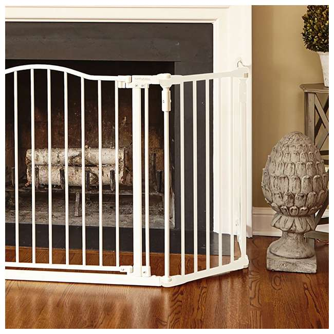 North States Deluxe Decor Baby Pet Metal Gate 38 72 Inches
