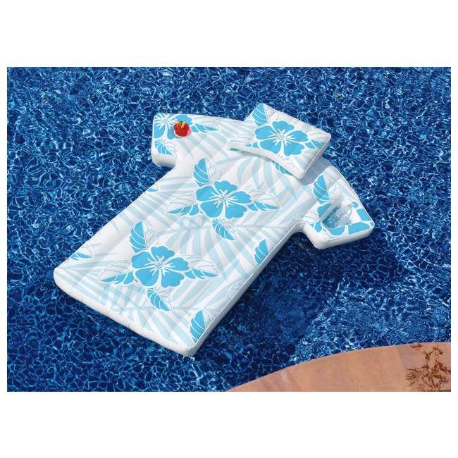 90604-U-A Swimline 90604 Inflatable Swimming Pool Hawaiian Shirt Float Lounger (Open Box) 1