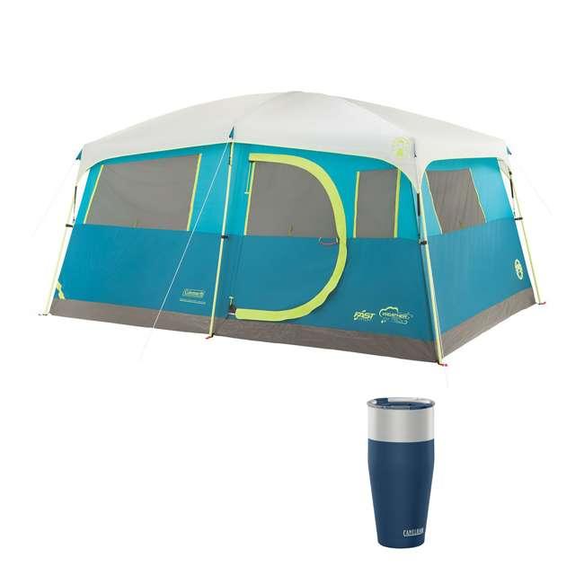 A-2000018088-G + CAMEL-1304401085 Coleman Tenaya Lake 8-Person Cabin Tent & CamelBak 30 Oz Tumbler