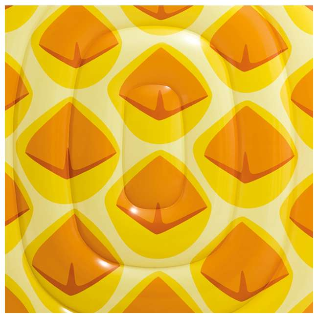 58761EP-U-B Intex 85 x 49 Inch Giant Inflatable One Person Pineapple Pool Float Mat (Used) 2