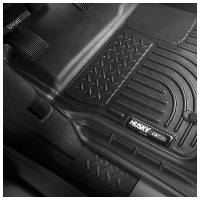 HUSKY-99713-OB Husky Liner Weatherbeater Front & 2nd Seat Floor Liner for Ford F-250 Pickup 3