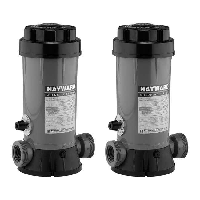 CL2002S Hayward Pool In-Line Chemical Trichlor Chlorine Feeder (2 Pack)