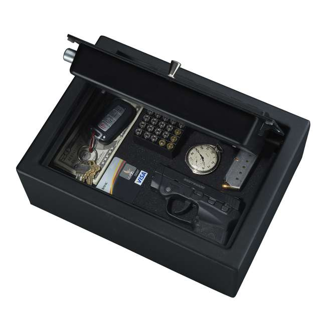 PDS-1500 Stack-On Compact Drawer Safe with Electronic Lock and Mounting Hardware, Black 1