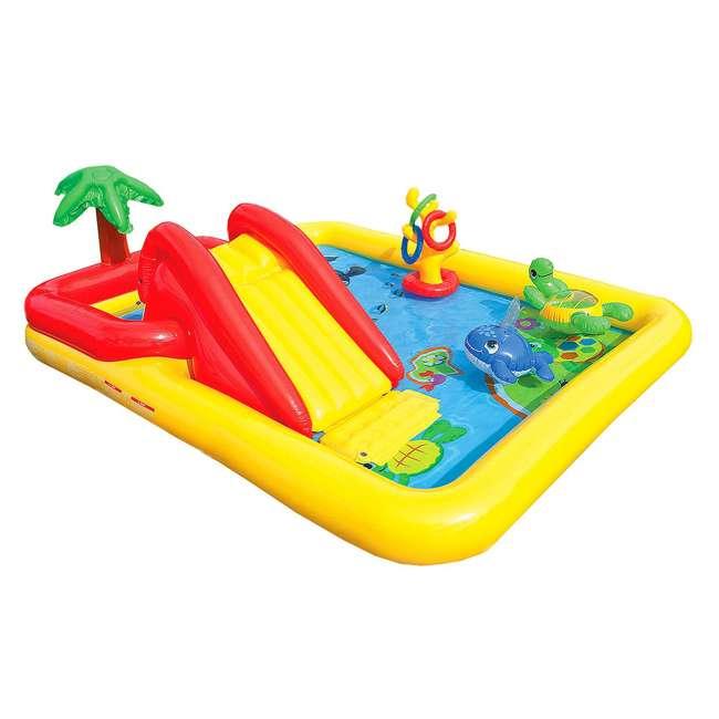 57454EP + 57453EP Intex Inflatable Ocean Kiddie Pool (2 Pack) & Intex Rainbow Ring Pool (2 Pack) 1