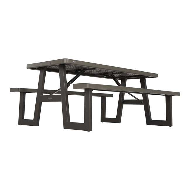 LIF-60233 Lifetime 60233 6-Foot W-Frame Outdoor Folding Picnic Table, Brown 3
