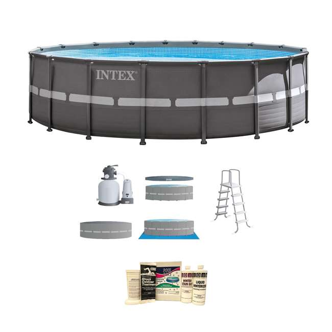 Intex 18 39 x 52 ultra frame above ground pool with sand - Intex 18 x 9 x 52 ultra frame swimming pool ...