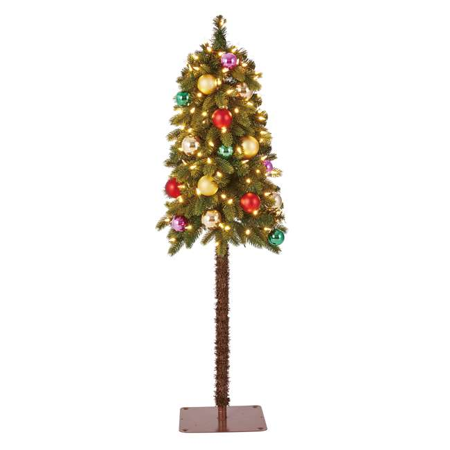 TV40P2819L00 Home Heritage True Bark 4 Foot Artificial Christmas Tree w/ White Lights (2 Pk) 3