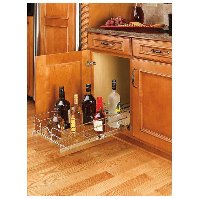 5WB1-0918-CR-U-A Rev A Shelf 9 x 18 Inch Kitchen Cabinet Pull Out Basket (Open Box) (2 Pack) 3