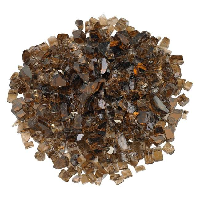 AFF-COPRF12-10 American Fireglass 10 LB Bag 1/2 Inch Reflective Fireplace & Pit Glass, Copper