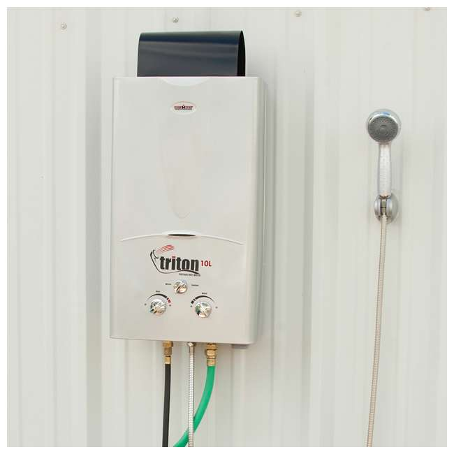 Triton Water Heater Instant Shower : Camp chef triton liter portable water heater with
