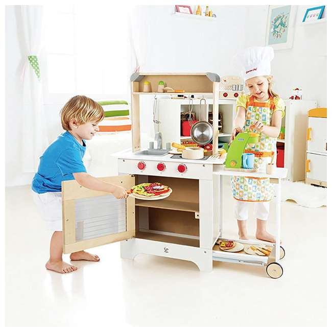 HAP-E3126 Hape Cook 'N Serve Kids Contemporary Pretend Play Wooden Kitchen 1