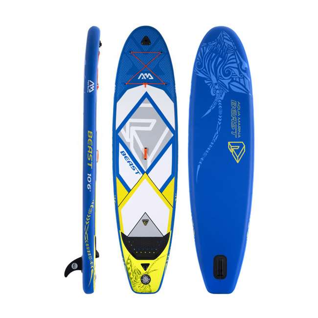 BT-18BE Aqua Marina Inflatable Beast 126-Inch SUP Board Set, Blue 1