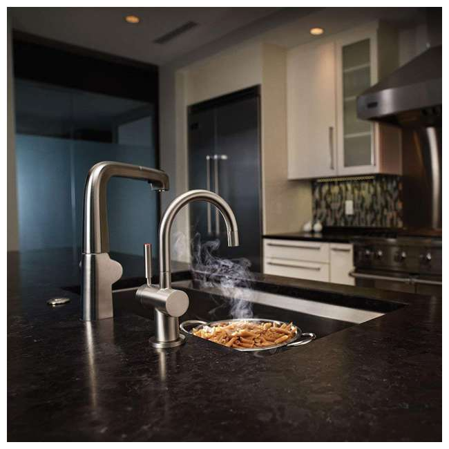 F-HC3300C-OB InSinkErator Indulge Modern Hot/Cold Water Faucet, Chrome (OPEN BOX) 4
