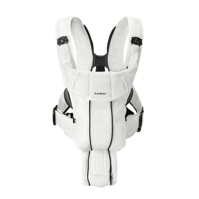 Synergy-WHITE + Sun-Cover BabyBjorn Baby Carrier Active - White, Mesh & Sun Cover 1
