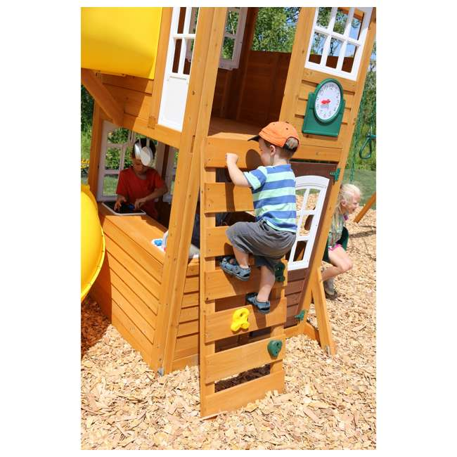 F24953 KidKraft F24953 Creston Lodge Kids Wooden Outdoor Playset 5